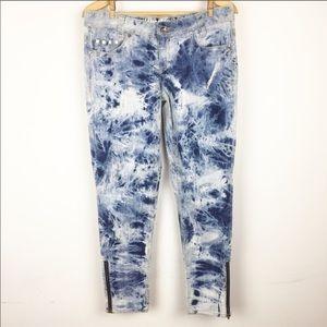 HANG TEN Acid wash Crazy Jeans 80's Skinny Pants